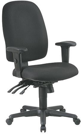 Work Smart 43819-226 Ergonomics Chair with Ratchet Back and Adjustable Soft Padded Arms - Peazz.com