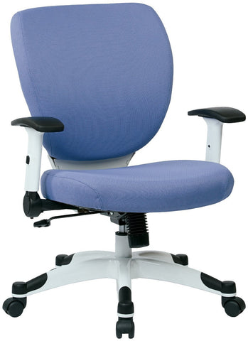 Space Seating 5200W-5819 Managers Chair with Padded Mesh Seat and Back, Height Adjustable Flip Arms and Coated Nylon Base (Dove Violet) - Peazz Furniture