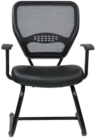 Space Seating 5705E Professional Air Grid¨ Back Visitors Chair with Eco Leather Seat - Peazz Furniture