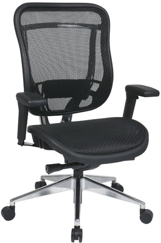 Space Seating 818A-11P9C1A7U Big and Tall Executive High Back Chair with Soft Padded Arms - Peazz Furniture