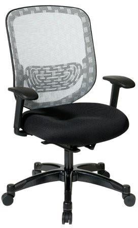 Office Star Space Seating 829-3R1C728P White Dura Flex With Flow Through Technology Back With Black Mesh Seat - Peazz Furniture