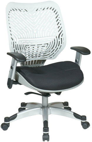 Office Star Space Seating 86-M32C625R Unique Self Adjusting Ice SpaceFlex® Back and Raven Mesh Seat Managers Chair - Peazz Furniture