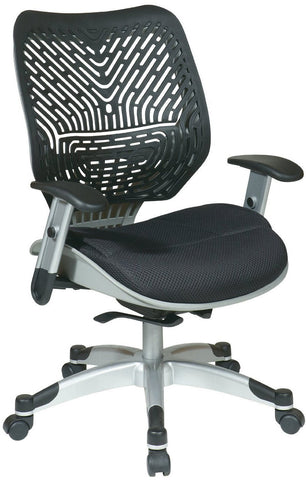Office Star Space Seating 86-M33C625R Unique Self Adjusting Raven SpaceFlex® and Raven Mesh Seat Managers Chair - Peazz Furniture
