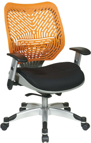 Office Star Space Seating 86-M35C625R Unique Self Adjusting Tang SpaceFlex® Back and Raven Mesh Seat Managers Chair - Peazz Furniture