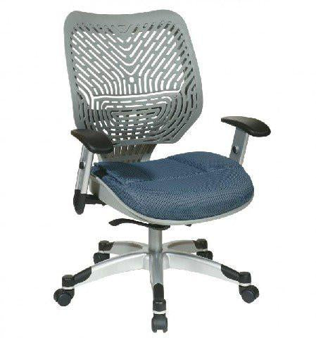 Office Star Space Seating 86-M74C625R Unique Self Adjusting Fog SpaceFlex® Back and Raven Mesh Seat Managers Chair - Peazz Furniture