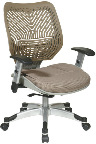 Office Star Space Seating 86-M88C625R Unique Self Adjusting Latte SpaceFlex® Back and Raven Mesh Seat Managers Chair - Peazz Furniture