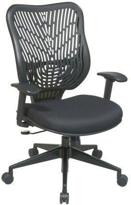 Office Star Space Seating 88-33BB918P Unique Self Adjusting Raven SpaceFlex® Back and Raven Mesh Seat Managers Chair - Peazz Furniture
