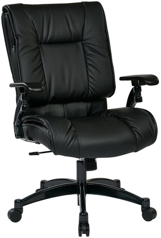 Space Seating 9333e Black Eco Leather Conference Chair