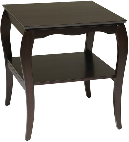 Work Smart / OSP Designs BN09ESP End Table in Espresso - Peazz.com