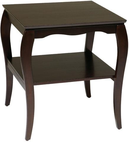 Work Smart / OSP Designs BN09MAH End Table in Mahogany - Peazz.com