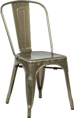 OSP Designs BRW29A2-GM Bristow Armless Chair, Gunmetal, 2 Pack - Peazz.com