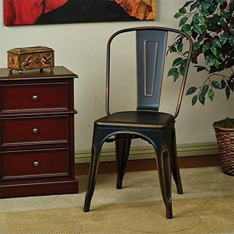 OSP Designs BRW29A4-AC Bristow Armless Chair, Antique Copper Finish, 4 Pack - Peazz.com