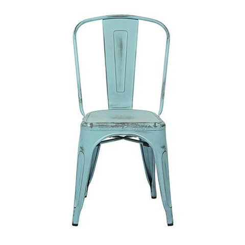 OSP Designs BRW29A4-ASB Bristow Armless Chair, Antique Sky Blue Finish, 4 Pack - Peazz.com