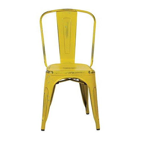 OSP Designs BRW29A4-AY Bristow Armless Chair, Antique Yellow with Blue Specks Finish, 4 Pack - Peazz.com