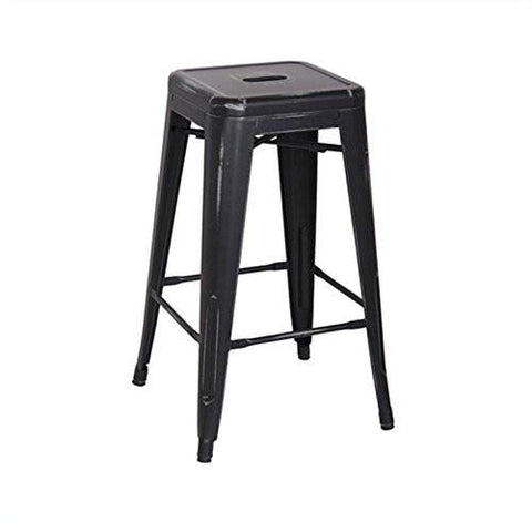 "OSP Designs BRW3026A4-AB Bristow 26"" Antique Metal Barstool, Antique Black Finish, 4 Pack - Peazz.com"