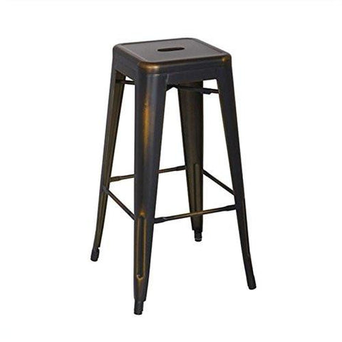 "OSP Designs BRW3030A4-AC Bristow 30"" Antique Metal Barstool, Antique Copper Finish, 4 Pack - Peazz.com"