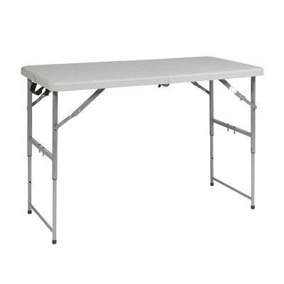 Office Star Work Smart BT04FA 4' Height Adjustable Fold in Half Resin Multi Purpose Table - Peazz Furniture