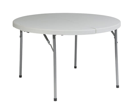"Office Star Work Smart BT48F 48"" Round Fold in Half Resin Multi Purpose Table - Peazz Furniture"