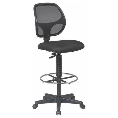 "Office Star Work Smart DC2990 Deluxe Mesh Back Drafting Chair with 20"" Diameter Foot ring - Peazz Furniture"