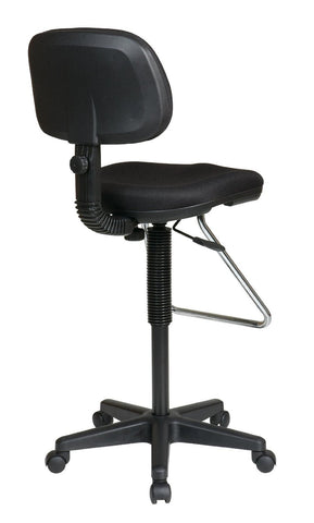 Work Smart DC430-231 Economical Chair with Chrome Teardrop Footrest - Peazz.com