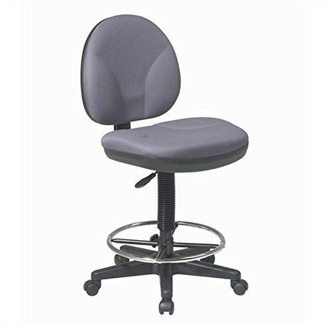 Work Smart DC550-302 Sculptured Seat and Back Drafting Chair - Peazz.com