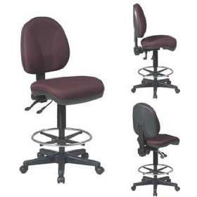 Work Smart DC940-231 Deluxe Ergonomic Drafting Chair - Peazz.com