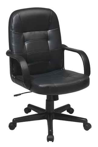 Office Star Work Smart EC3393-EC3 Eco Leather Executive Chair - Peazz Furniture