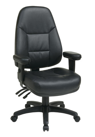 Office Star Work Smart EC4300 EC3 Professional Dual Function Ergonomic High  Back Leather Chair With