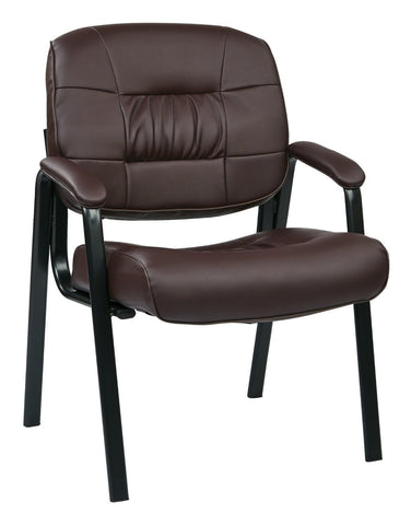 Work Smart EC8124-EC4 Eco Leather Visitors Chair (Burgundy) - Peazz.com