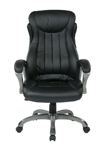 Work Smart ECH31827-EC3 Eco Leather Executive Manger's Chair (Titanium/Black) - Peazz.com
