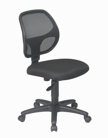 Office Star Work Smart EM2910 Mesh Screen Back Task Chair with Fabric Seat - Peazz Furniture