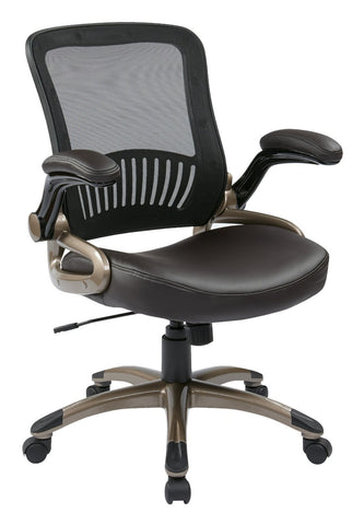 Work Smart EM35201-EC1 Screen Back and Eco Leather Seat Managers Chair - Peazz.com
