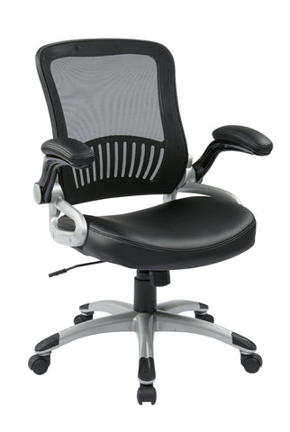 Work Smart EM35206-EC3 Screen Back and Eco Leather Seat Managers Chair - Peazz.com