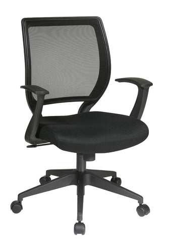 "Office Star Work Smart EM51022N-3 Screen Back Task Chair with ""T"" Arms - Peazz Furniture"