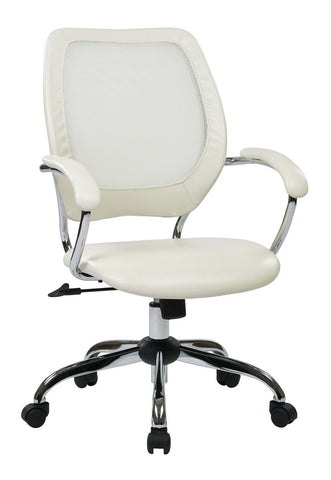 Work Smart EM52022C-U11 Designer Screen Back Managers Chair (White) - Peazz.com
