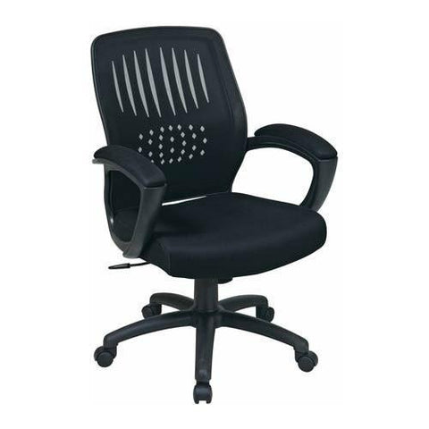 Office Star Work Smart EM59722-3 Screen Back Over Designer Contoured Shell Chair - Peazz Furniture