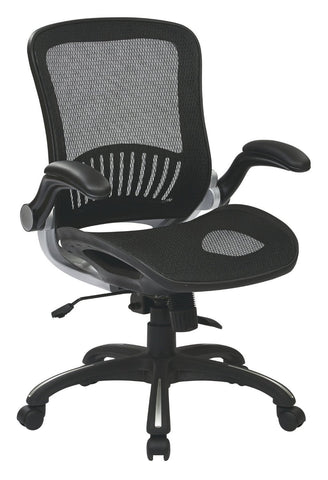 Work Smart EMH69006 OSP Office Black Chair With Silver Finish   Peazz.com