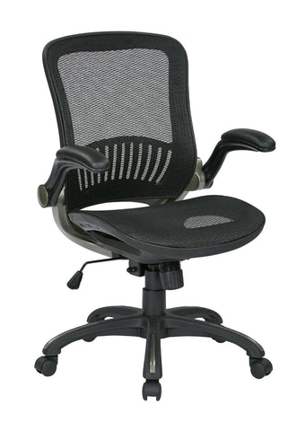 Work Smart EMH69007 OSP Office Black Chair with Titanium Finish - Peazz.com