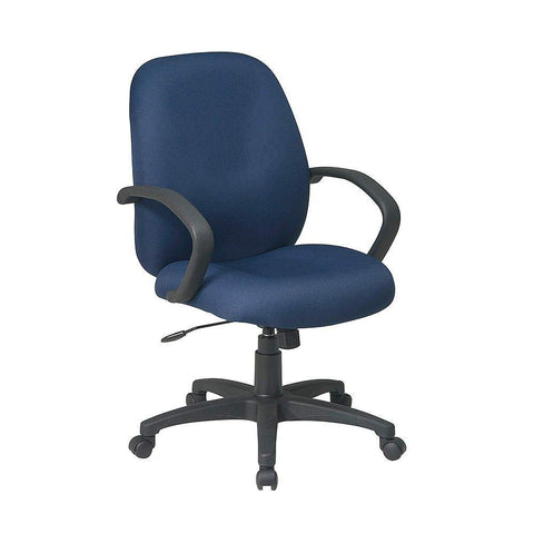 Work Smart EX2651-225 Executive Mid Back Managers Chair with Fabric Back - Peazz.com