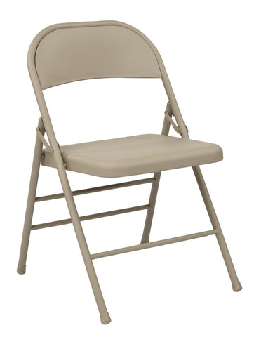 Work Smart FF-22124M Folding Chair with Metal Seat and Back - Peazz.com