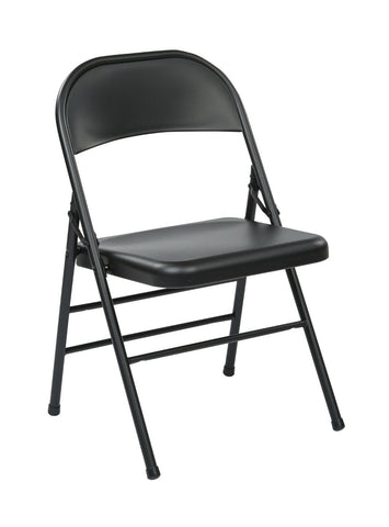 Work Smart FF-22324M Folding Chair with Metal Seat and Back - Peazz.com