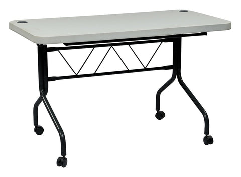 Work Smart FT6634 4Õ Resin Multi Purpose Flip Table with Locking Casters - Peazz.com