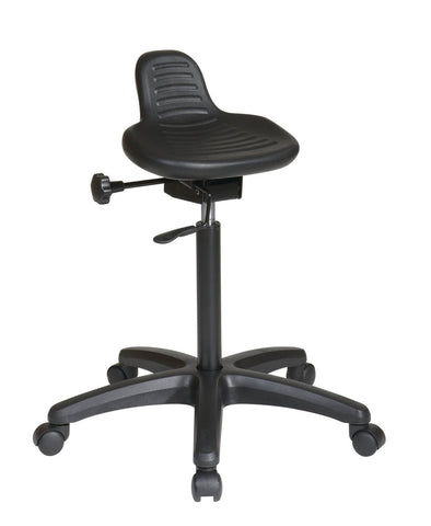 Office Star Work Smart KH206 Saddle Seat Stool with Seat Angle Adjustment and Glides - Peazz Furniture