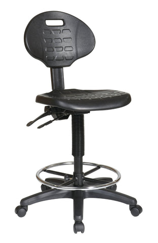 Office Star Work Smart KH570 Intermediate Ergonomic Drafting Chair with Adjustable Footrest - Peazz Furniture