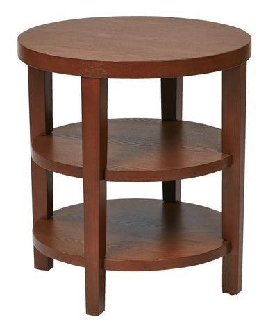 "Work Smart / Ave Six MRG09-CHY Merge 20"" Round End Table - Peazz.com"