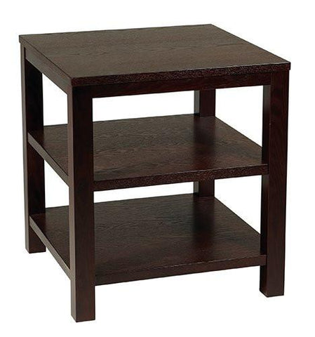"Office Star Ave Six MRG09S-ESP Merge 20"" Square End Table - Peazz Furniture"