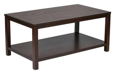 "Work Smart / Ave Six MRG12-MAH Merge 36"" Round Coffee Table. Mahogany Finish. - Peazz.com"
