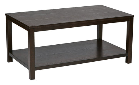 "Ave Six MRG12R-ESP Merge 42"" Rectangular Cocktail Table Espresso Finish - Peazz Furniture"
