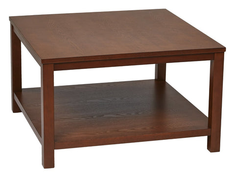 "Work Smart / Ave Six MRG12SR1-CHY Merge 30"" Square Coffee Table Cherry Finish - Peazz.com"