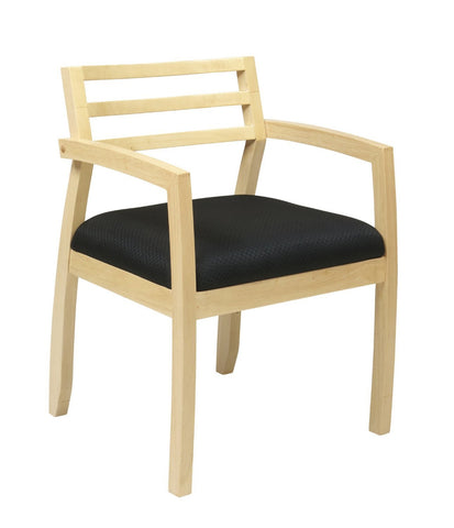 OSP Furniture NAP91MPL-3 Napa Maple Guest Chair With Wood Back (1-Pack) - Peazz.com